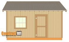 Considering a garden shed? Thinking about building it yourself? Then before you embark on your project make sure you have a reliable shed plan for the design you have in mind. Building your own shed can without doubt cut costs but Shed Plans 12x16, Free Shed Plans, Diy Storage Shed Plans, Storage Sheds, Small Storage, Rv Storage, Shed Blueprints, Build Your Own Shed, Large Sheds