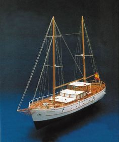 Mantua Models Bruma Ocean Going Yacht 736 Kit | Hobbies Scale reproduction of the Bruma ocean going fishing boat, converted into a pleasure yacht.  This Mantua Models kit is a plank on frame construction for radio control or as a fine display model.