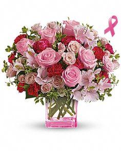 Teleflora's Pink Grace Bouquet Bouquet - Breast Cancer Awareness