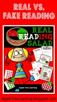 Comprehension:  Real Reading Salad!  Teach kids to REALLY READ!  Metacognition strategies. #comprehension #metacognition