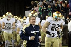 Coach Kelly leading the Irish