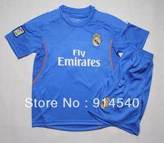 016259c6e 2013-14 New Real Madrid Away kids soccer jerseys