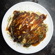 This Hiroshima style okonomiyaki is special to me because it reminds me of one of my trips to Japan. For this variation, we're using yakisoba noodles and adding in a sunny side up egg. It's best served hot off the stove and topped with Kewpie Easy Japanese Recipes, Japanese Food, Asian Recipes, Ethnic Recipes, Gourmet Recipes, Dinner Recipes, Cooking Recipes, Dinner Ideas, How To Make Okonomiyaki