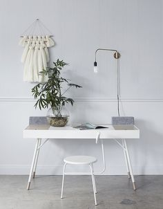 The ferm LIVING x Elkeland wall hangings are now available online – go to our website to learn more about the collaboration and get your very own visual artwork for the home! Office Workspace, Office Decor, Home Office, Office Spaces, Office Ideas, Boconcept, Living Room Decor, Living Spaces, Interior Styling