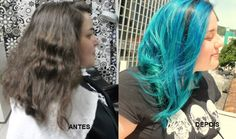 Katia Miyazaki Coiffeur - Salão de Beleza em Floripa: Antes e Depois -  Cabelo Colorido - Azul - Blue - ...