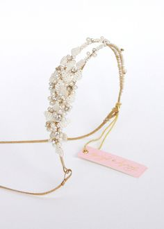 Tiny bead leaves double headband - Style # 410 - Ready to Ship (2014, hair adornments, headpieces, ready to ship, twigs and honey, view all) | Headpieces | Twigs & Honey ®, LLC