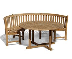 Henley Teak Bench & Table Set