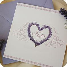 Einladungskarte Flieder, Lavendel, Einladung Für Hochzeit, Individuell  Designed By Die Kartenfrau