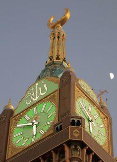 Abraj Al-Bait Clock Tower, Mecca, Saudi Arabia.