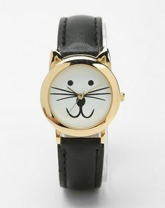 With this cute kitty watch, your friend will always know the time meow / 18 Gifts For Your Cat-Obsessed Friend via BuzzFeed Community