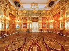 The Amber Room, Catherine Palace in St Petersburg