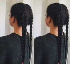 two braids hairstyle for long hair