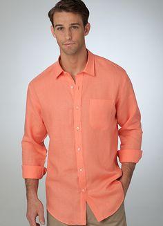 Coral - The Leeward Linen Shirt