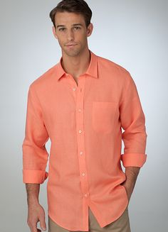 1000 images about men 39 s linen shirts on pinterest linen for Coral shirts for guys