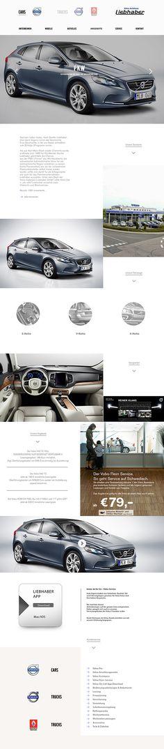 Layout Website Liebhaber Car Center on Web Design Served