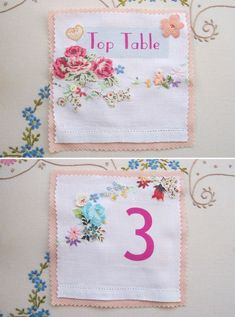 fabric table number