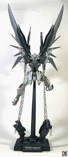"MG 1/100 Destiny Gundam ""Chained Monument"" Custom Build with Diorama - Gundam Kits Collection News and Reviews"