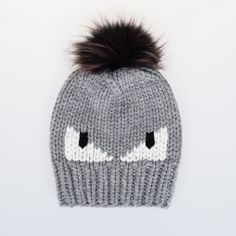 Fendi Virgin Wool MONSTER Fur hat (325 CHF) ❤ liked on Polyvore featuring accessories, hats, grey, fendi, gray hat, fendi hat, fur hat and grey hat