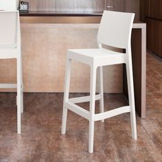 Turn on the Brights Adrienne Patio Bar Stool (Set of Frame Finish: White Grey Bar Stools, Bar Stool Seats, Outdoor Bar Stools, 30 Bar Stools, Swivel Bar Stools, Stools With Backs, Outdoor Seating Areas, Contract Furniture, Foot Rest