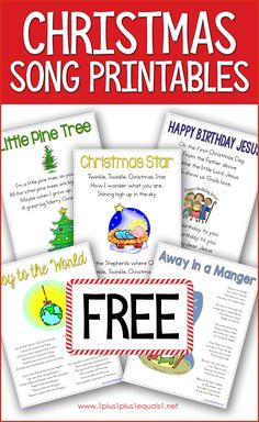 Christmas Printables for Kids Use this free set of Christmas Song printables with your kids during the Christmas season. Songs included: Away in a Manger, Joy to the World and some special songs just for younger kids. Church Christmas Songs, Christmas Songs For Toddlers, Preschool Christmas Songs, Christian Christmas Songs, Best Christmas Songs, Christmas Program, Christmas Concert, Childrens Christmas, Christmas Music