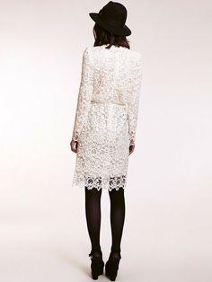 Dahlia Corinne Bohemian Lace Midi Dress