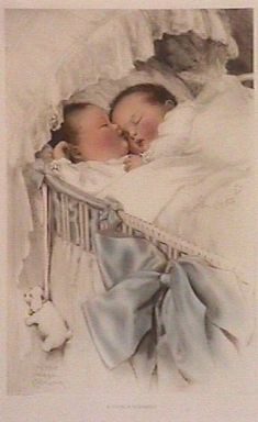 Vintage twin babies