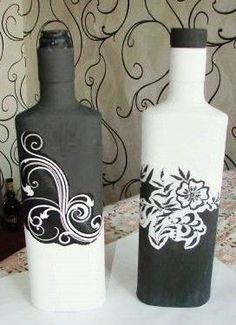 Painting Bottles, Home Remedies, Health, Home Decor, Painted Bottles, Glass Bottles, Creative Crafts, Fashion Styles, Decoration Home