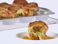 Breakfast Popovers with Italian Sausage recipe from Giada De Laurentiis via Food Network sausage and veggies;recipes with sausage dinner;spaghetti with sausage;orrechiette with sausage; What's For Breakfast, Breakfast Dishes, Breakfast Recipes, Christmas Breakfast, Christmas Morning, Italian Breakfast, Breakfast Sandwiches, Breakfast Muffins, Quiches