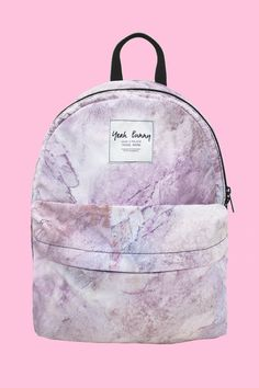This marble backpack is resistant to your crazy journeys! - 29 cm x 40 cm - pink lining - pocket inside - 100% polyester - hand wash or machine but cold - do not iron - made in Poland Returns and Exch