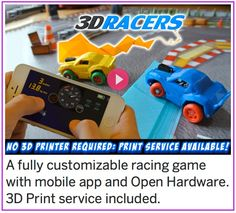 Help 3DRacers: 3D Printed Game, Smartphone Controlled reach its funding goal today!