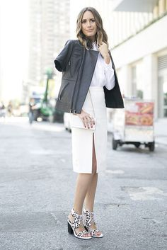 As part of a monochromatic look