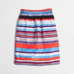 Factory printed stretch cotton skirt : Mini & A-Line | J.Crew Factory