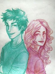 Percabeth. But it also looks like Leo and Hazel