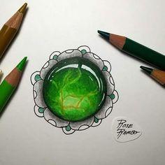 Gem Drawing, Coloring Tutorial, Zentangle Drawings, Doodle Art, Colored Pencils, Earthy, Doodles, Silver Rings, Gemstones
