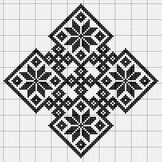 Biscornu Cross Stitch, Celtic Cross Stitch, Xmas Cross Stitch, Cross Stitching, Granny Square Crochet Pattern, Crochet Chart, Filet Crochet, Sashiko Embroidery, Japanese Embroidery