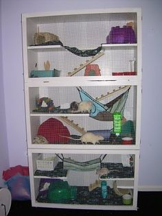 bookcase cages