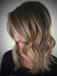ombre hair dark brown to blonde medium length Archives ...