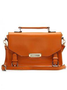 Orange Messenger Satchels Bag With Print$50.00