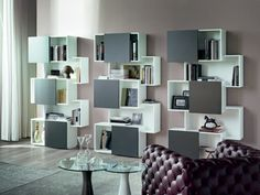 bookcase PIQUANT by Cattelan Italia | Design Andrea Lucatello