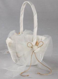 Ivy Lane Design Seashore Flower Girl Basket, Available in ivory only Ivory Wedding Flowers, Diy Foto, Unity Sand, Seaside Wedding, Burlap Flowers, Diy Blog, Flower Girl Basket, Wedding Supplies, Organizer