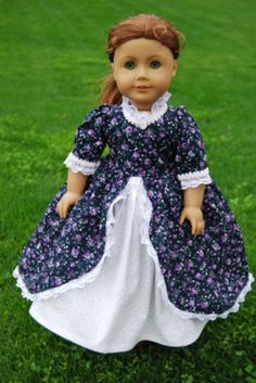 """18"""" Inch Doll Clothes fits American Girl Doll Felicity Colonial Dress (12/05/2011)"""
