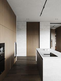 kitchen Architecture Board, Interior Architecture, Interior Design, Kitchen Interior, Home Kitchens, Kitchen Dining, Minimalism, Doors, Modern