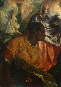 Paolo Veronese Moisés salvo das águas Itália (c. 1575). detail