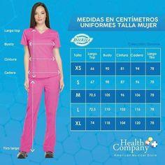 Tallas Scrubs Outfit, Scrubs Uniform, Scrubs Pattern, Sewing Blouses, Medical Uniforms, Elegant Dresses For Women, Medical Scrubs, Body Measurement Chart, Jacket Pattern
