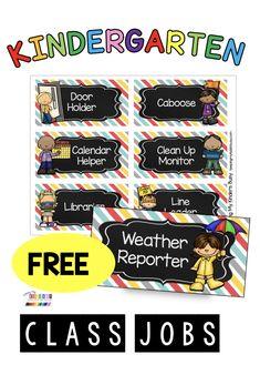 Kindergarten Classroom Jobs, Kindergarten Job Chart, Preschool Classroom Jobs, Kindergarten Calendar, Classroom Ideas, New Classroom, Classroom Posters, Preschool Helper Chart, Classroom Helper Chart