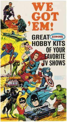 Aurora model kit ad (1960's).