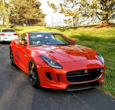 Yesterday I saw a beautiful orange 2016 Jaguar F-Type Sport's car at the Alden Golf Course.