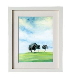 Landscape Horizon Trees Watercolor Print Modern Abstract Art Print Canvas Wall Decor. This is an archival inkjet print of the original watercolor on 140 lb (300 g) archival paper or fading resistant canvas you can choose. Solid wood frame with four finishes, 2mm thick off white matte, oil painting inner frame are provided on your demand too. For shipping reason, you need to install the inner frame by yourself, it's easy. We need 3-4 days to process your order.All artwork and images are...