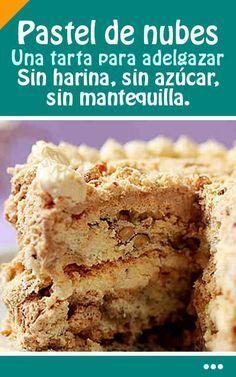 Cocina – Recetas y Consejos Healthy Cake, Healthy Desserts, Diabetic Recipes, Cooking Recipes, Low Carb Recipes, Tortas Light, Sweet Recipes, Cake Recipes, Pan Dulce