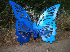 handmade steel butterfly bench by abrstractsteel on Etsy, $650.00